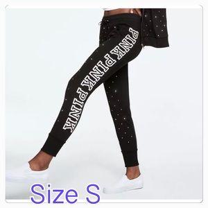 Size S 💐 VS PINK RHINESTONES SKINNY JOGGER PANT
